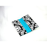 Checkbook Cover Classic Damask