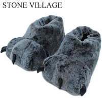 Good Quality Paw Slippers Funny Animal Slippers For Men And Women Winter Monster Claw Plush Home Slipper Soft Indoor Floor Shoes