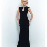 Black Hollywood High Neck Crystal Beaded Gown
