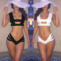 HOT SUMMER Sexy Womens Swimwear Bandage Bikini Set Swimsuit Beach Bathing suit = 5618639681