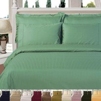 Striped Duvet Cover Set 600 Thread Count 100% Combed cotton