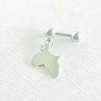 Map of Africa 316L Surgical Steel 16g, 16 gauge Helix, cartilage, tragus earring