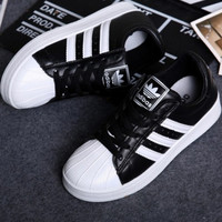 """Adidas"" Fashion Shell-toe Flats Sneakers Sport Shoes Black white"