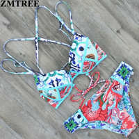ZMTREE  New Swimwear Bandage Bikini Sexy Hot B