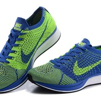 """""""Nike Flyknit Racer"""" Unisex Sport Casual Fly Knit Multicolor Sneakers Couple Running Shoes"""