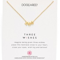 Women's Dogeared 'Swarovski Reminders' Pendant Necklace - Gold- Star