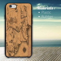 lord of the rings map iPhone 4/4S, 5/5S, 5C, 6 Series Hard Plastic Case