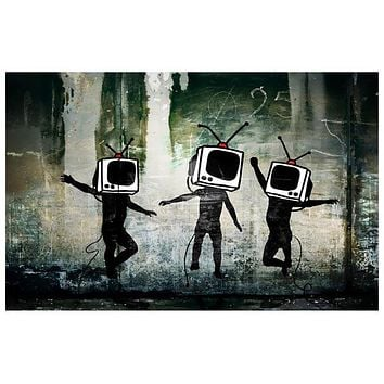 Banksy Television Head Dance Poster 11x17