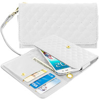 White Luxury Pouch Leather Wallet Pouch Case Cover with Slots for Apple iPhone 6 / 6S (4.7)