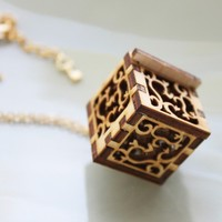 Key to my Heart Locket Necklace - Lock and Key, Victorian Style Lace