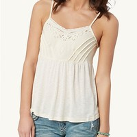 Cutout Embroidered Cami