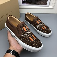 BURBDRRY  2021Men Fashion Boots fashionable Casual leather Breathable Sneakers Running Shoes08060gh