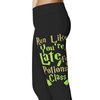 Run Like You're Late For Potions Class Leggings