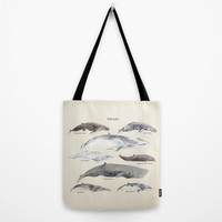 Whales Tote Bag by Samantha Ranlet