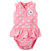 Baby Girl Carter's Polka-Dot Bodysuit