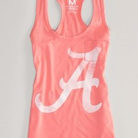 AEO Women's Alabama Neon Vintage Tank (Orange Flare)
