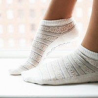 Great Soles Womens Crochet Yoga Sock