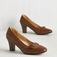 Start on a Keynote Heel in Brown | Mod Retro Vintage Heels | ModCloth.com