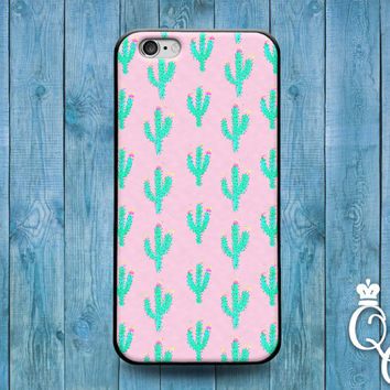 iPhone 4 4s 5 5s 5c 6 6s plus iPod Touch 4th 5th 6th Generation Cool Pink Pattern Green Cactus Phone Case Cute Clever Fun Desert Funny Cover