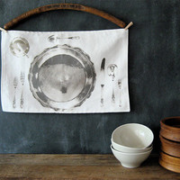 Linen/Cotton Placemats Set of 4 by lovintagefinds on Etsy