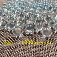 1000pcs 7mm glass bullet BB Bullets Ball Circular Particle Pellets Hunting Accessories