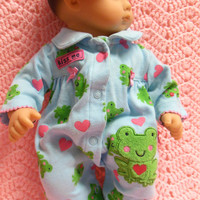 """American Girl BITTY BABY clothes """"Kiss Me"""" (15 inch) doll outfit with sleeper and headband"""