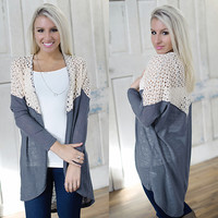 Days Like This Cardi (Charcoal) - Piace Boutique