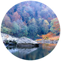 Paul Moore's Pedestal Rock in Big South Fork National Park  Circle wall decal