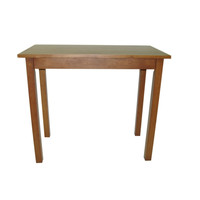Rectangular Wood Dining Table in Contemporary Walnut Finish