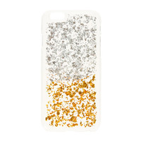 Clear Silver and Gold Glitter Phone Case