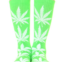 LIME GREEN PLANTLIFE SOCKS