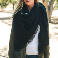 Solid Blanket Scarf - 2 Options