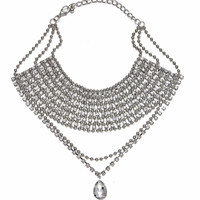 Stacked Stone Statement Necklace