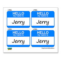 Jerry Hello My Name Is - Sheet of 4 Stickers