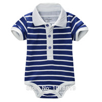 New 2016 Branded Quality 100% Cotton Newborn Baby Boys Clothing Clothes Ropa Bebe Creepers Jumpsuits Bodysuits Boys Short Sleeve
