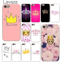 Lavaza PRINCESS Queen boss crown king Hard Phone Cover Case for Apple iPhone X XR XS Max 6 6S 7 8 Plus 5 5S SE 5C 4S 10 Cases