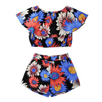 FLORAL OFF THE SHOULDERS CO-ORDS