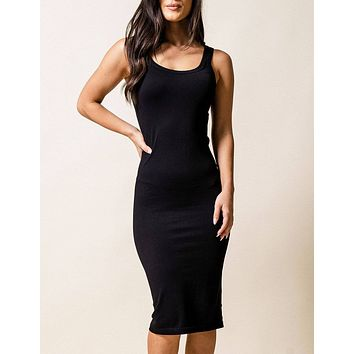 Control Fit Ribbed Tank Dress
