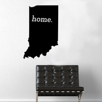 Indiana Home Decal - Home Decor - Car Decal - USA - America - Indoor - Outdoor - Cottage - Perfect Gift - High Quality Vinyl Graphic