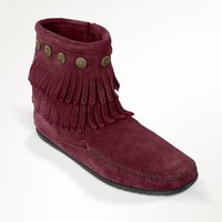 Double Fringe Side Zip Boot | Minnetonka Moccasin