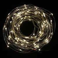 DODOLIGHTNESS 33Ft Warm White Copper Wire LED Starry Lights, 12V DC LED String Light, Includes Power Adapter, with 100 Individual Leds