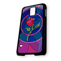 Beauty and Beast rose glass Custom KC New 082 M Samsung Galaxy S5 Case