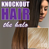 """Halo Hair Extensions 20"""" Light Blonde (#613) - Human No Clip In Flip In Couture by Knockout Hair"""