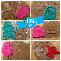 Star Wars Heroes Collection (Set) cookie cutters - 6pcs - Plastic 3d printed (PLA)