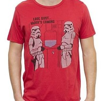 Junk Food Star Wars Storm Troopers Adult Rooster Red T-shirt - Star Wars - | TV Store Online