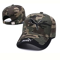 PUMA Fashion Women Men Embroidery Sports Sun Hat Baseball Cap Hat Camouflage