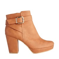 New Look Cimberly Stone Strap Detailed Heeled Chelsea Boots