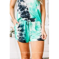 The Emerald Isle Tie Dye Drawstring Shorts
