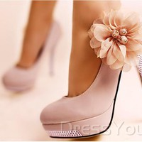 $ 72.99 Sweet Pink Platform Stiletto Heel Closed-toes Prom Shoes