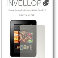 """INVELLOP CRYSTAL CLEAR 3-pack Screen protectors for Kindle Fire HD 7"""" 7inch (Previous Generation 2012)"""